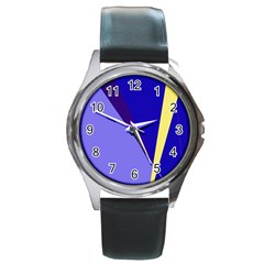 Geometrical abstraction Round Metal Watch