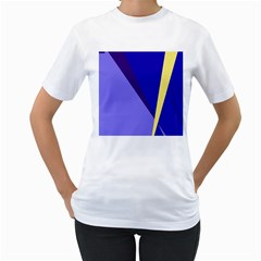 Geometrical abstraction Women s T-Shirt (White) (Two Sided)
