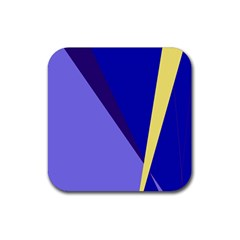Geometrical abstraction Rubber Coaster (Square)
