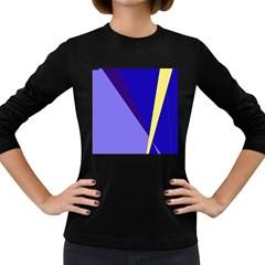 Geometrical abstraction Women s Long Sleeve Dark T-Shirts