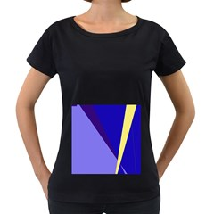 Geometrical abstraction Women s Loose-Fit T-Shirt (Black)