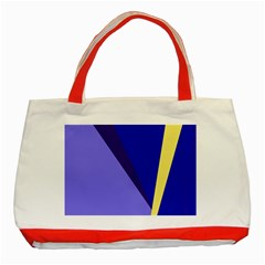 Geometrical abstraction Classic Tote Bag (Red)