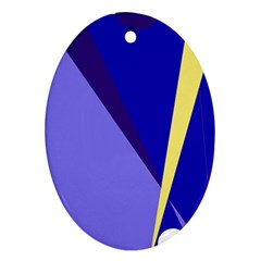 Geometrical abstraction Oval Ornament (Two Sides)