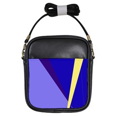 Geometrical abstraction Girls Sling Bags