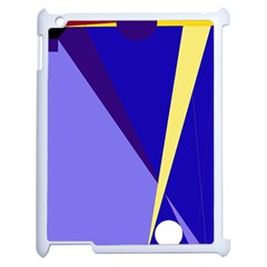 Geometrical abstraction Apple iPad 2 Case (White)
