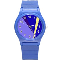 Geometrical abstraction Round Plastic Sport Watch (S)