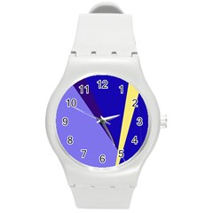 Geometrical abstraction Round Plastic Sport Watch (M)