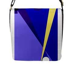 Geometrical abstraction Flap Messenger Bag (L)