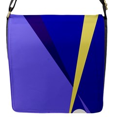 Geometrical abstraction Flap Messenger Bag (S)