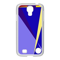 Geometrical abstraction Samsung GALAXY S4 I9500/ I9505 Case (White)