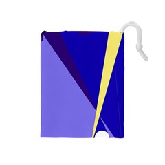 Geometrical abstraction Drawstring Pouches (Medium)