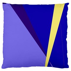 Geometrical Abstraction Large Flano Cushion Case (two Sides)