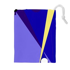 Geometrical abstraction Drawstring Pouches (Extra Large)