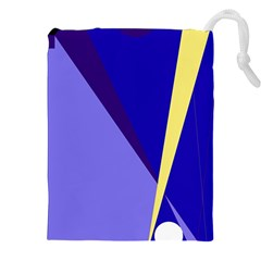 Geometrical abstraction Drawstring Pouches (XXL)