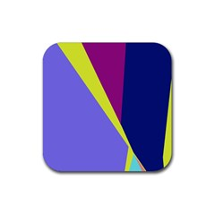 Geometrical abstraction Rubber Square Coaster (4 pack)