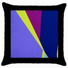 Geometrical abstraction Throw Pillow Case (Black)