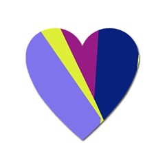 Geometrical abstraction Heart Magnet