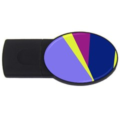 Geometrical abstraction USB Flash Drive Oval (1 GB)