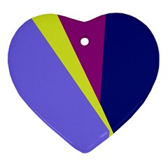 Geometrical abstraction Heart Ornament (2 Sides)