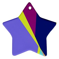 Geometrical abstraction Star Ornament (Two Sides)