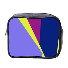 Geometrical abstraction Mini Toiletries Bag 2-Side