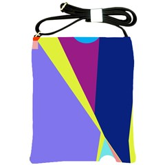 Geometrical abstraction Shoulder Sling Bags
