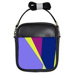 Geometrical abstraction Girls Sling Bags Front