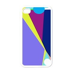 Geometrical abstraction Apple iPhone 4 Case (White)