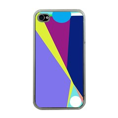 Geometrical abstraction Apple iPhone 4 Case (Clear)