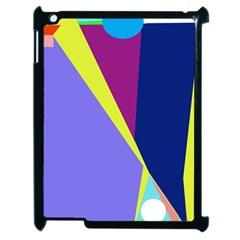 Geometrical abstraction Apple iPad 2 Case (Black)