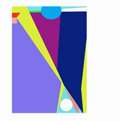 Geometrical abstraction Large Garden Flag (Two Sides)