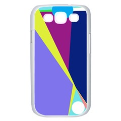 Geometrical abstraction Samsung Galaxy S III Case (White)