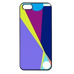 Geometrical abstraction Apple iPhone 5 Seamless Case (Black)