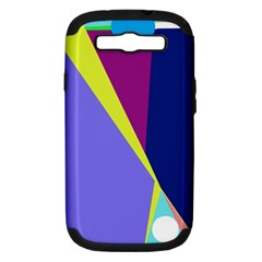 Geometrical abstraction Samsung Galaxy S III Hardshell Case (PC+Silicone)