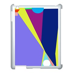 Geometrical abstraction Apple iPad 3/4 Case (White)