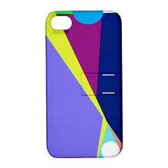 Geometrical abstraction Apple iPhone 4/4S Hardshell Case with Stand