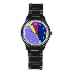 Geometrical abstraction Stainless Steel Round Watch