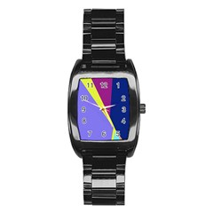 Geometrical abstraction Stainless Steel Barrel Watch