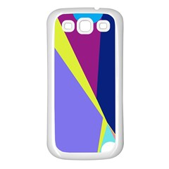 Geometrical abstraction Samsung Galaxy S3 Back Case (White)