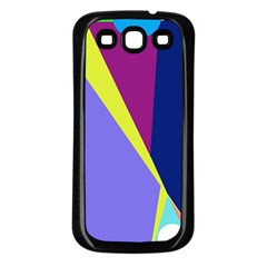 Geometrical abstraction Samsung Galaxy S3 Back Case (Black)