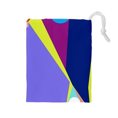 Geometrical abstraction Drawstring Pouches (Large)