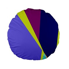 Geometrical abstraction Standard 15  Premium Flano Round Cushions