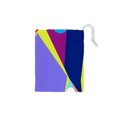 Geometrical abstraction Drawstring Pouches (XS)
