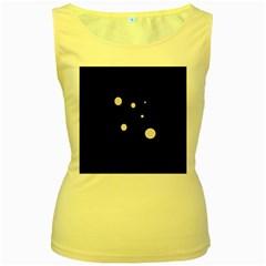 White dots Women s Yellow Tank Top