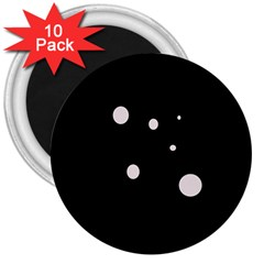 White dots 3  Magnets (10 pack)