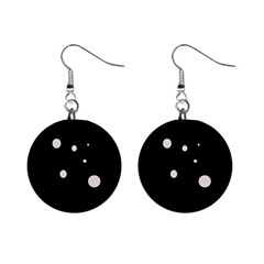 White Dots Mini Button Earrings