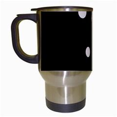 White dots Travel Mugs (White)