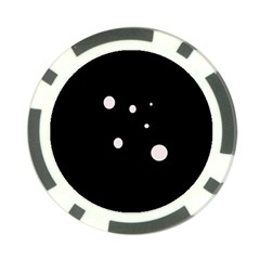 White dots Poker Chip Card Guards (10 pack)