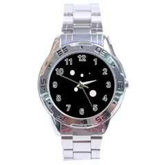 White dots Stainless Steel Analogue Watch