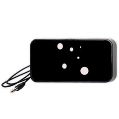 White dots Portable Speaker (Black)